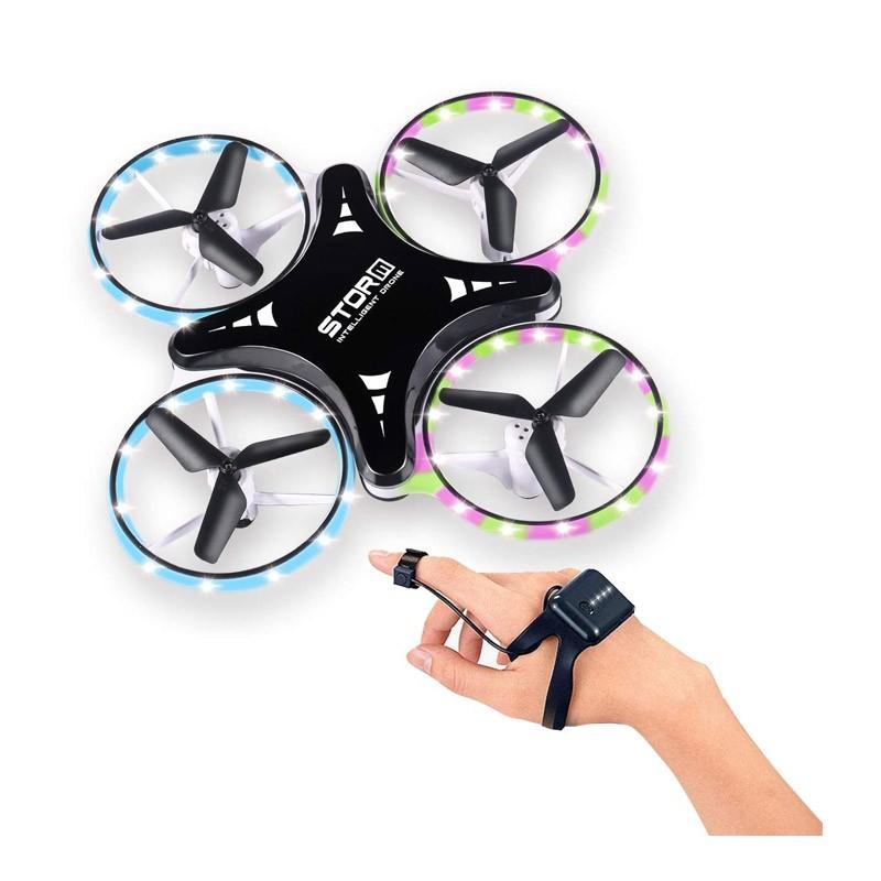 Μίνι Quadcopter Drone με Χειρισμό Χεριού και Φωτάκια LED Χρώματος Μαύρο OEM