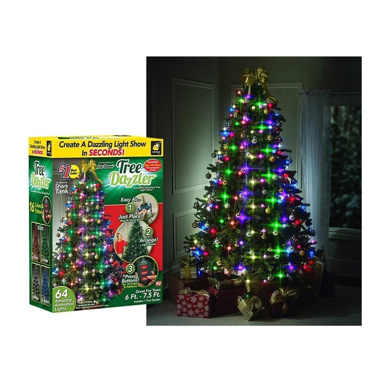 24.9 - Χριστουγεννιάτικα Νυχτερινά Λαμπάκια 64 Led RGB με Κοντρόλ