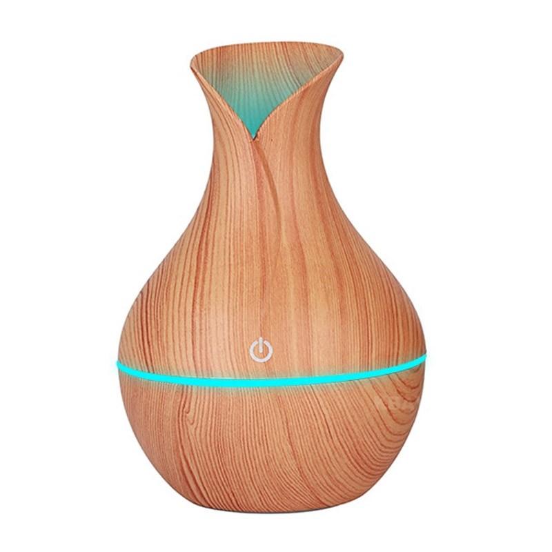 Ξύλινο Αποσμητικό Χώρου Χρώματος Μπεζ Ultrasonic Aroma Humidifier OEM